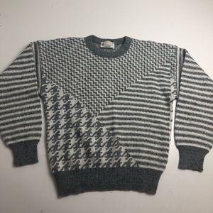 Vintage London Fog Knit Wool Sweater Large